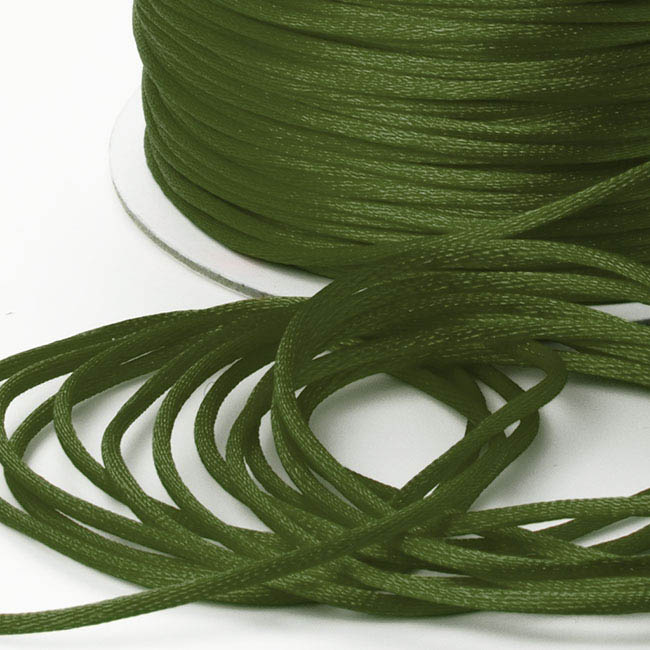 Cords - Satin Cord Olive (2mmx100m)