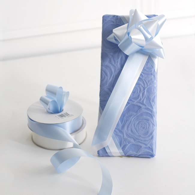 Florist & Gift Poly Tear Ribbons - Premium Tear Ribbon Light Blue (30mmx91m)