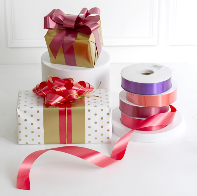 Florist & Gift Poly Tear Ribbons - Ribbon Economy Tear Violet (30mmx91m)
