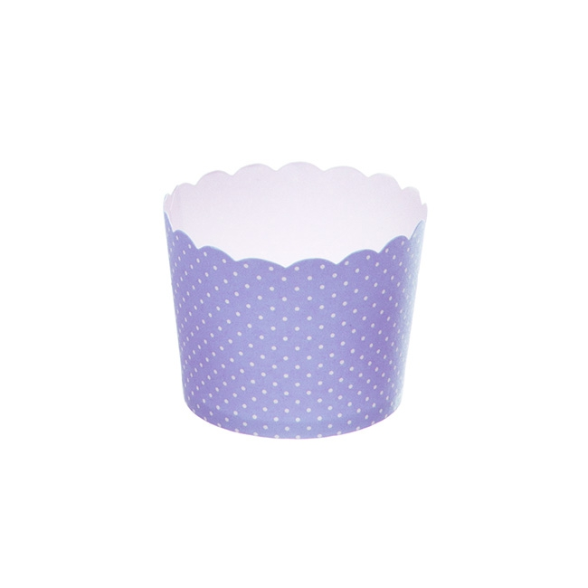 Dotted Paper Baking Cups 25 Pack Purple (6x4.5cmH)