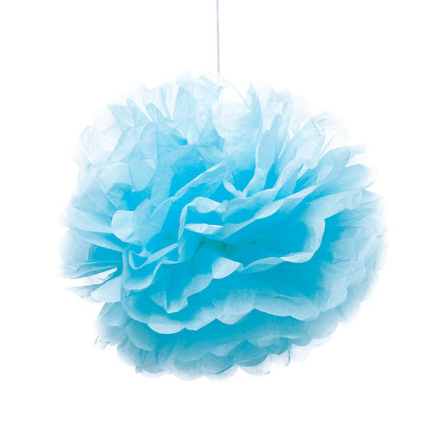 Hanging Tissue Pom Pom 2 Pack Blue (40cmD)