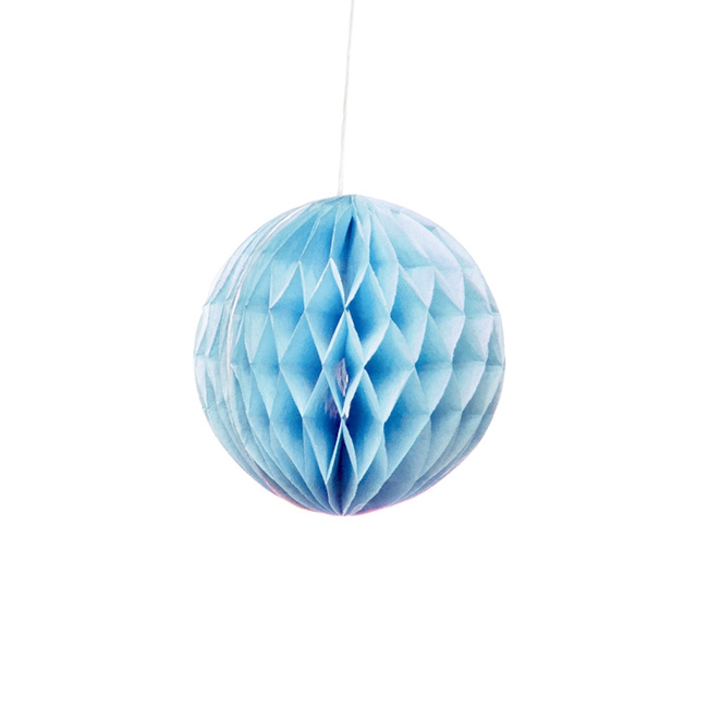 Hanging Honeycomb 3 Pack Blue (10cmD)