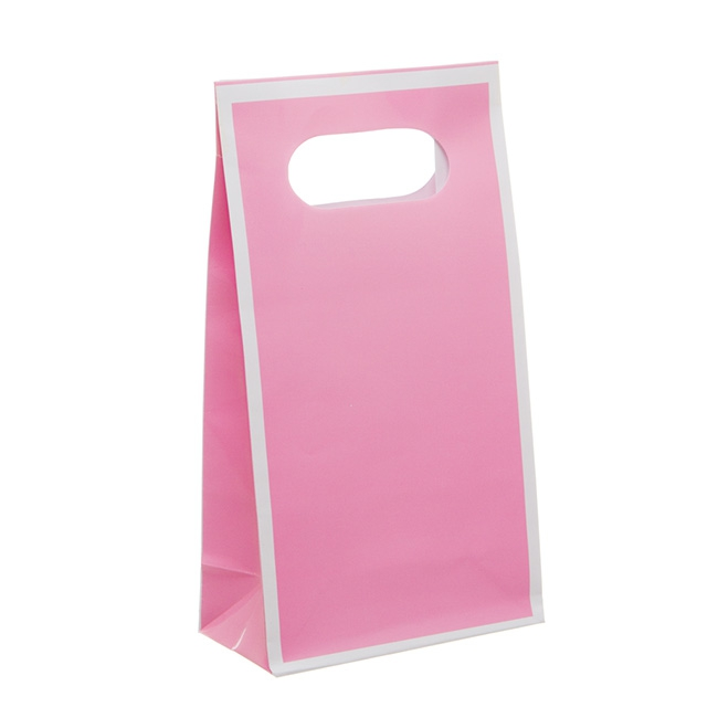 Party Bag 4 Pack Solid Pink (10x18cmH)