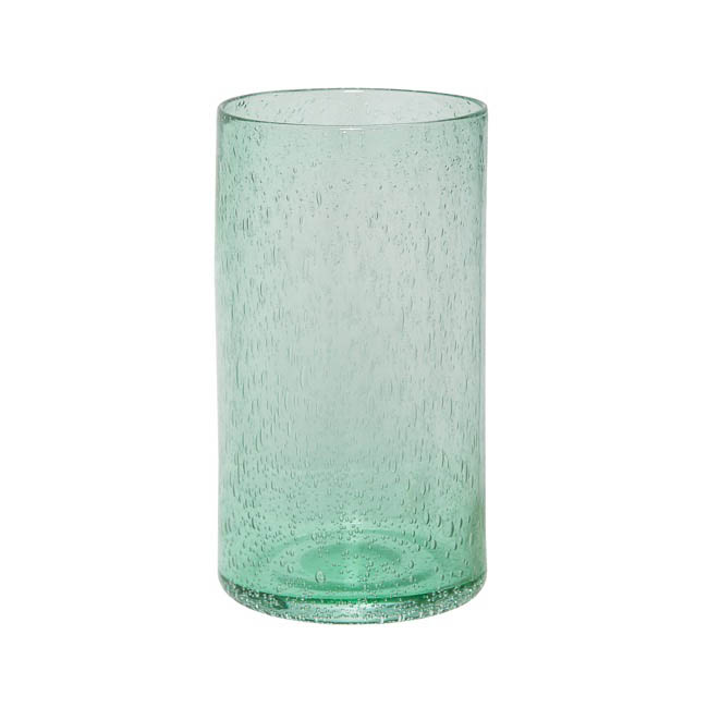 Seville Premium Glass Cylinder Vase 14x30cmh Spanish Green