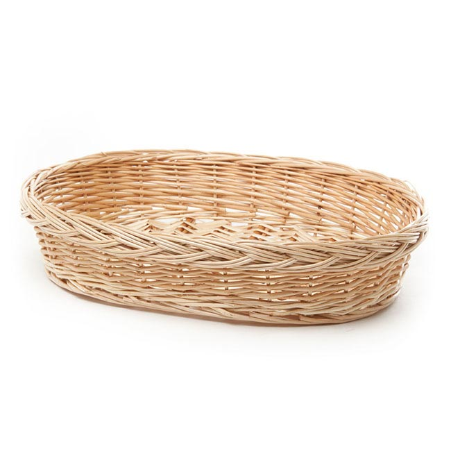 Willow Bread Tray Oval Natural (41x30x8cmH)