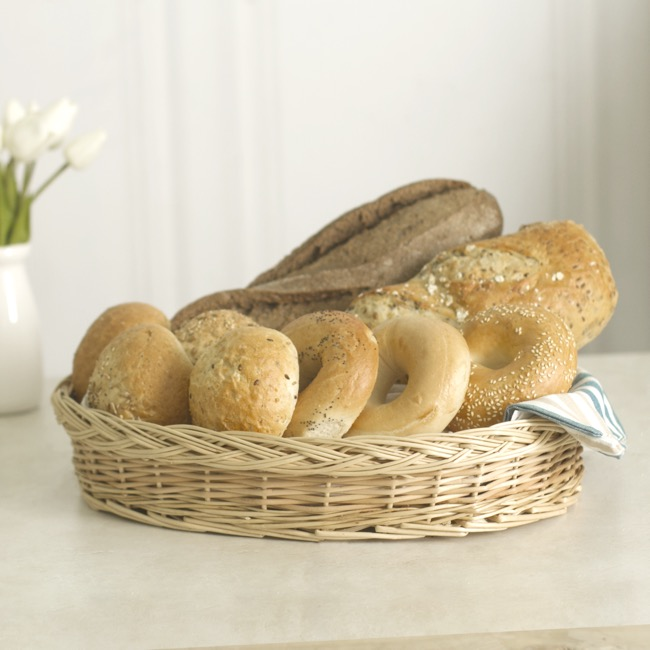 Hamper Tray & Gift Basket - Willow Bread Tray Oval Natural (41x30x8cmH)