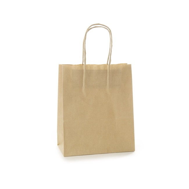 Brown Kraft Paper Bag Medium (215x180x85mmD)