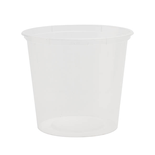 General Flower Bowls & Guards - Container Plastic Rnd 1200ml Single (14Dx11.5cmH) Clear