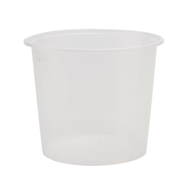 General Flower Bowls & Guards - Plastic Container Round 1750ml Single Clear (17.5Dx11.5cmH)