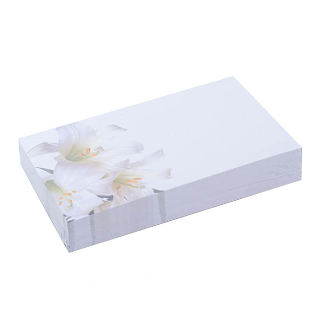 Florist Enclosure Cards - Cards November Lily (10x6.5cmH) Pack 50