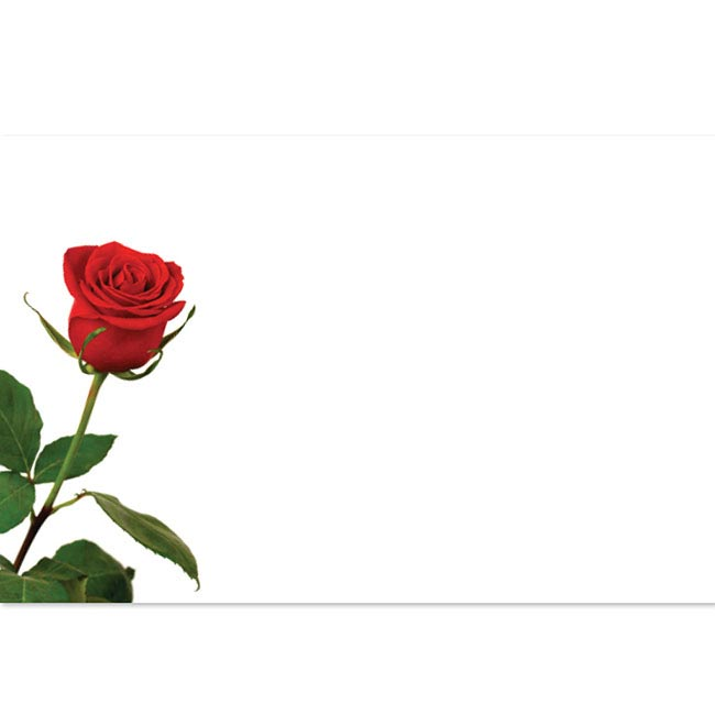Florist Enclosure Cards - Cards Rose Bud Single (10x6.5cmH) Pack 50