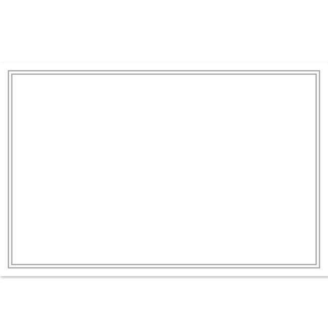 Cards Blank Silver Border 50 Pack (10x6.5cmH)
