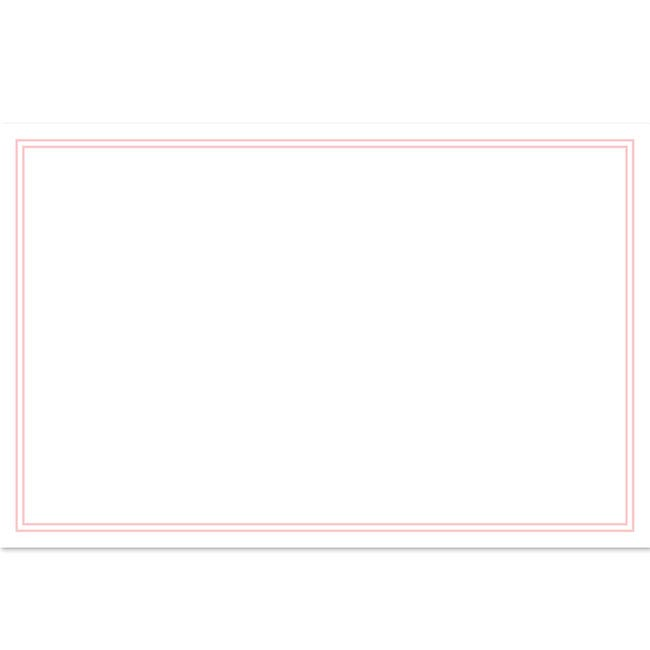 Cards Blank Pink Border 50 Pack (10x6.5cmH)