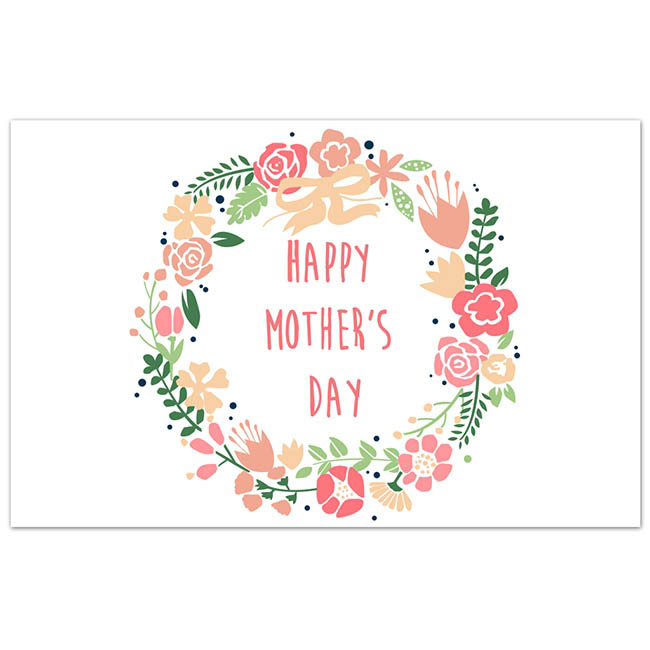 Cards Vintage Happy Mother's Day Soft Pink PK50 (10x6.5cmH)