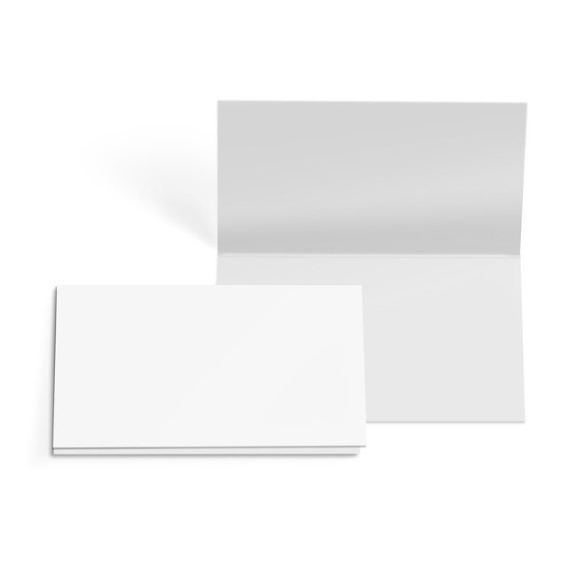 Folded Card with Envelopes Plain White 24 Pack (10x6.5cmH)