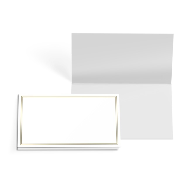 Folded Gift Cards - Folded Card with Envelopes Silhouette Gold(10x6.5cmH)Pack 24
