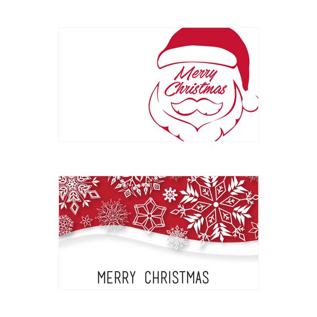 Folded Card with Envelopes Merry Christmas 24Pack (10x6.5cmH