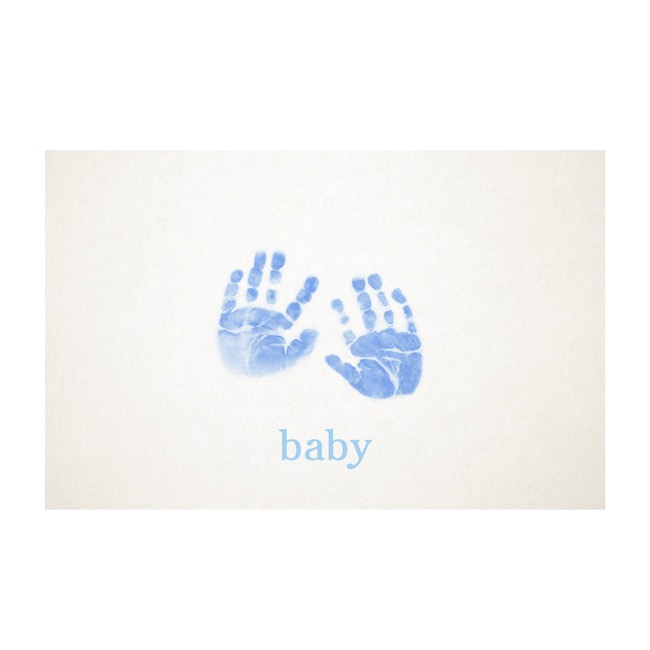 Cards White Baby Hand Boy (10x6.5cmH) 50Pk