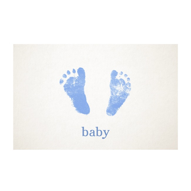 Florist Enclosure Cards - Cards White Baby Foot Blue (10x6.5cmH) Pack 50