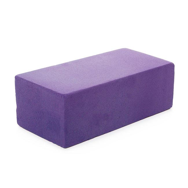 Coloured Floral Foam - Strass Coloured Foam Wet Brick Purple (23x11x8cmH)