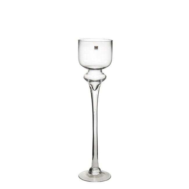 Candelabras - Elegant Glass Candle Holder Clear (12x50cmH)