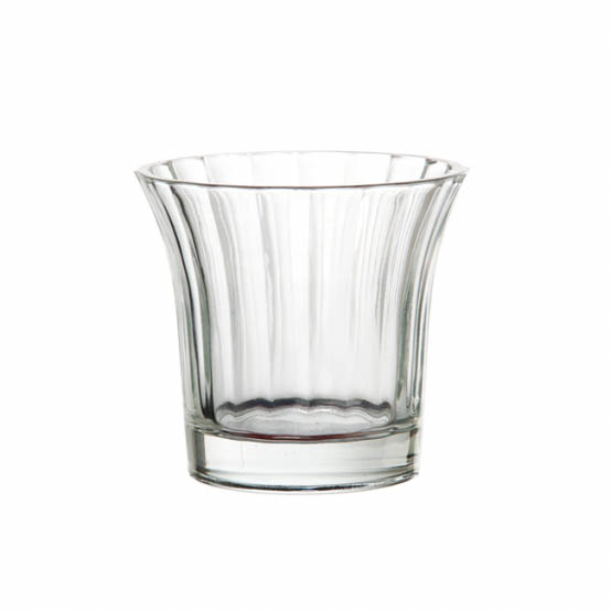 Flared Glass Votive Candle Holder Clear (8x7cmH)