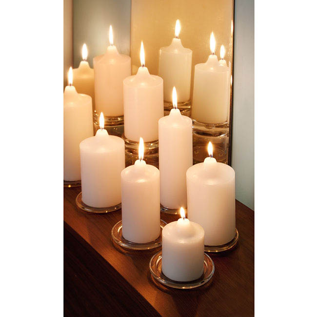 Pillar Candles - Church Pillar Candle White (9x20cmH) 117Hr