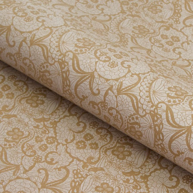 Counter Rolls - Counter Roll Lace White on Brown Kraft (50cmx50m)
