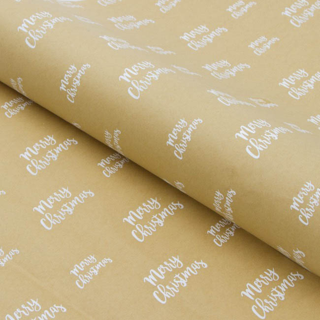 Counter Rolls - Counter Roll Merry Christmas Kraft  (50cmx50m)