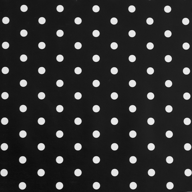 Counter Rolls - Counter Roll Polka Dots Gloss White on Black(50cmx50m)