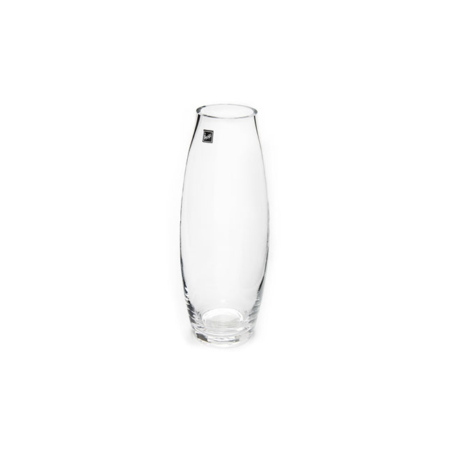 Glass Belly Vase 13Dx35cmH Clear