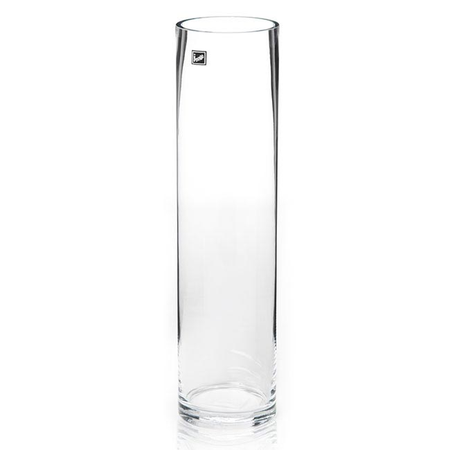 Glass Cylinder Vases - Glass Cylinder Vase Clear (10Dx40cmH)