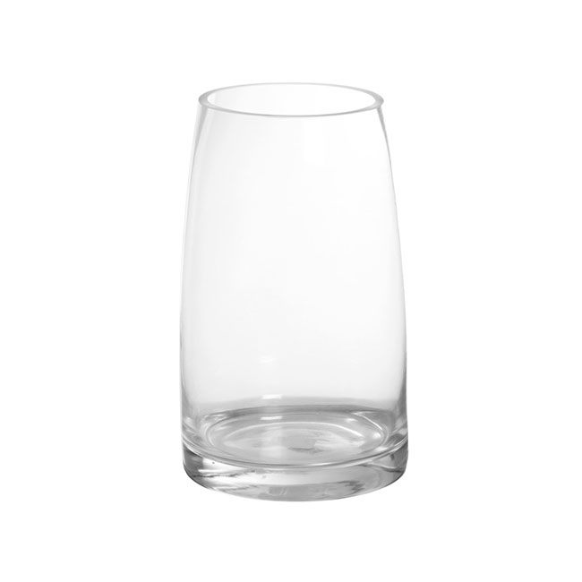 Glass Torpedo Vase 12Tx15Bx25mH Clear