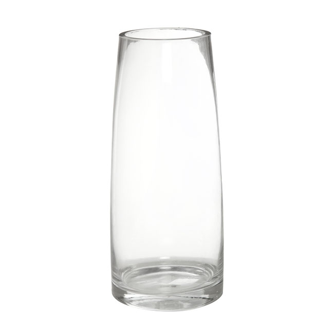 Glass Torpedo Vase 12Tx15Bx35mH Clear