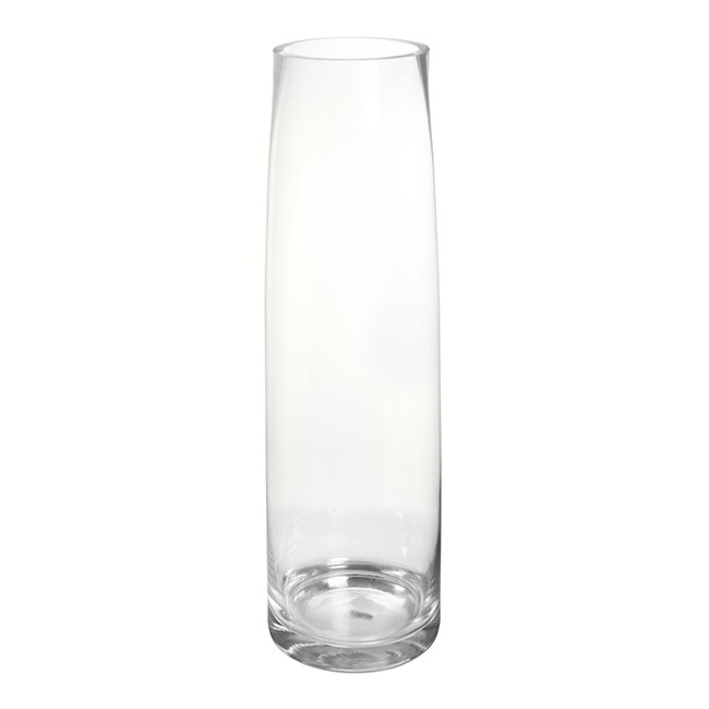 Glass Torpedo Vase 12Tx15Bx50mH Clear