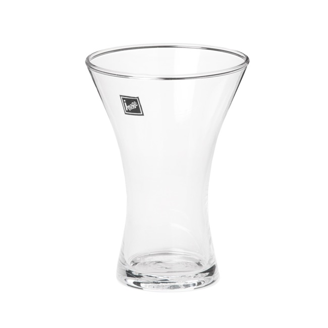 Glass Flared Vases 11Dx15cmH Clear