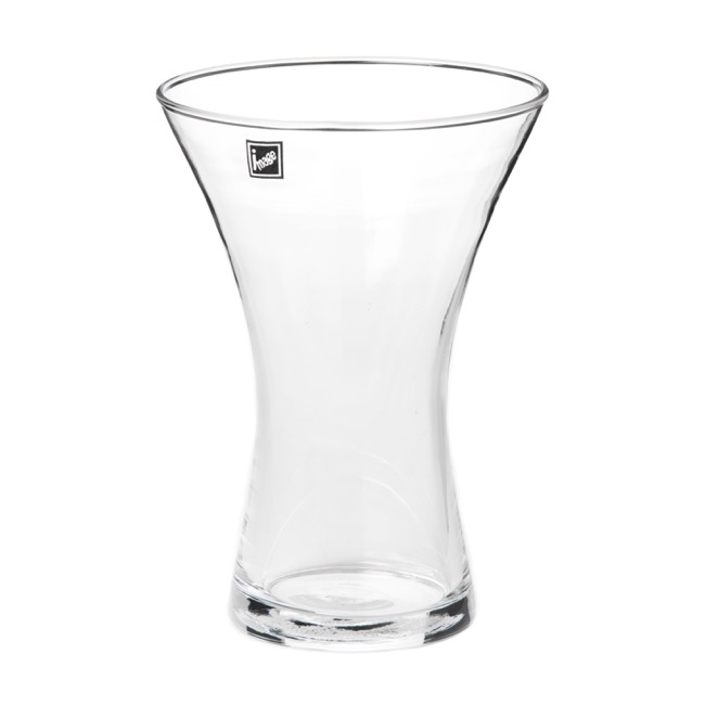 Glass Flared Vases 14.5Dx20cmH Clear
