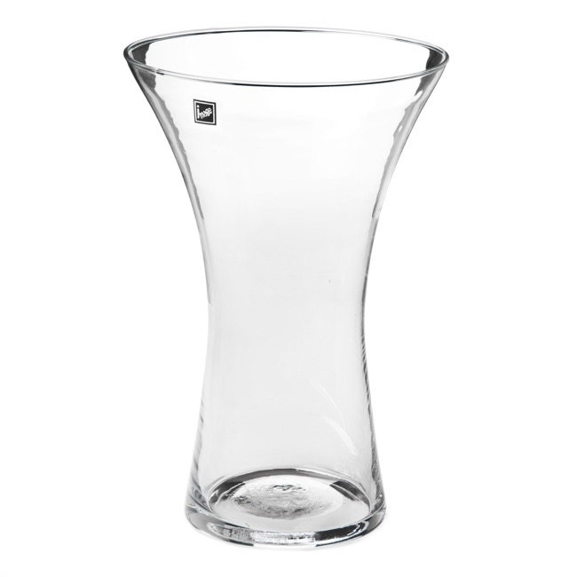 Glass Flared Vases 20Dx30cmH Clear