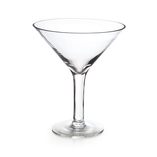 Glass Martini 23Dx26cmH Clear