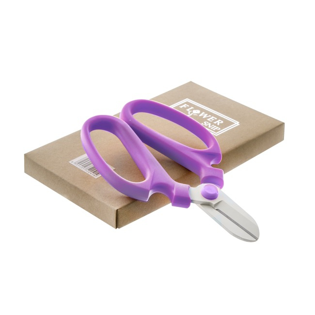 Scissors Shears Floral Cutters - Flower Snip Violet Handle (17cm-6.7