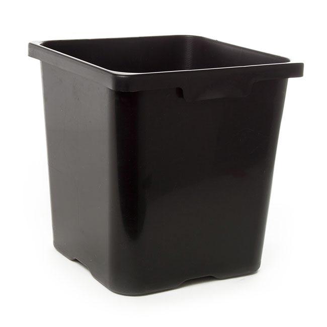 Flower Bucket Plastic Square 19l 29x30cmh Black