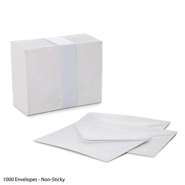 Envelopes 85x110mm - box 1000 - Non-sticky