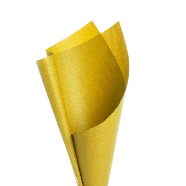 Embossed Paper 50 Sheets Bright Yellow (50x70cm)
