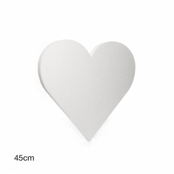 Polystyrene Wreaths & Bases - Polystyrene Heart Solid 18