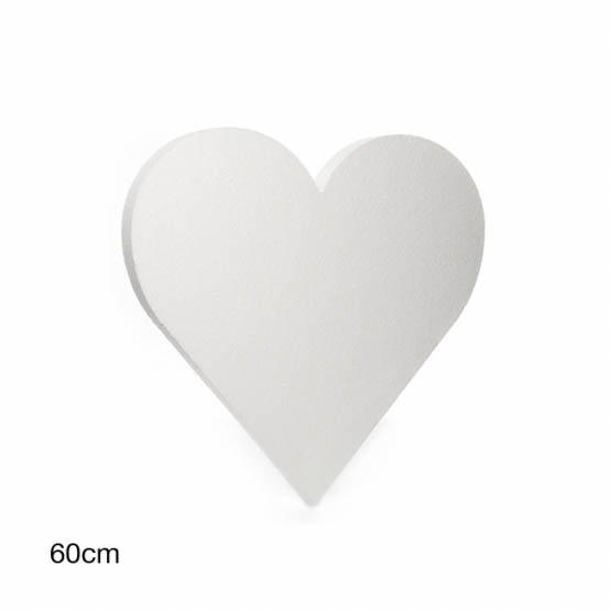 Polystyrene Heart Solid 24