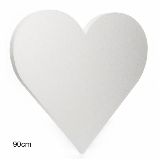 Polystyrene Wreaths & Bases - Polystyrene Heart Solid 36
