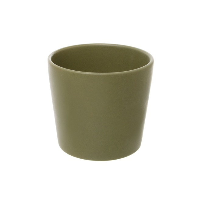 Ceramic Matte Bravo Pot Medium Avocado (18Dx15cmH)