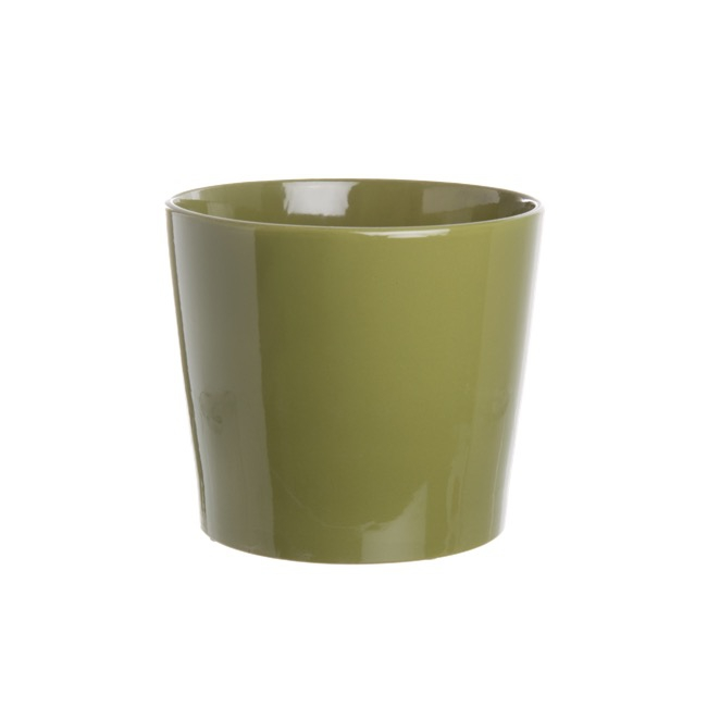 Ceramic Bravo Pot Medium Gloss Moss (18Dx15cmH)