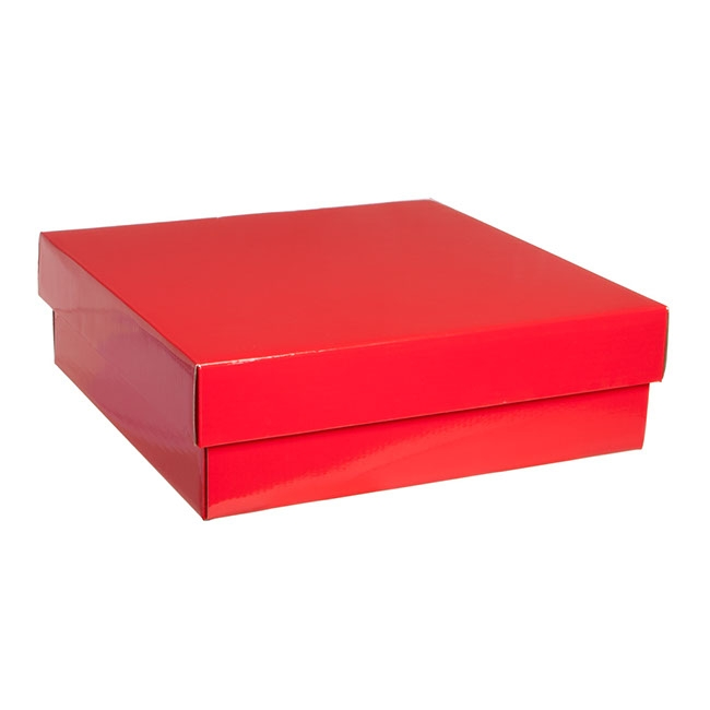 Gourmet Box Square Large Red (28x28x9cmH)