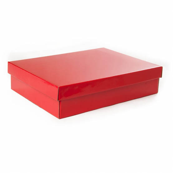 Cardboard Gourmet Box - Gourmet Box Rectangle Large Red (40x30x9cmH)